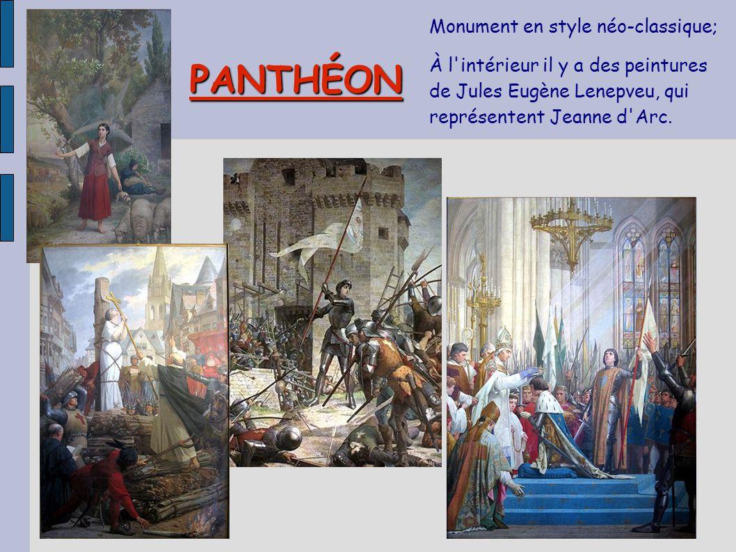 PANTHÉON Monument en style néo-classique;