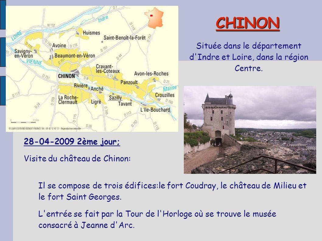 Située dans le département d Indre et Loire, dans la région Centre.