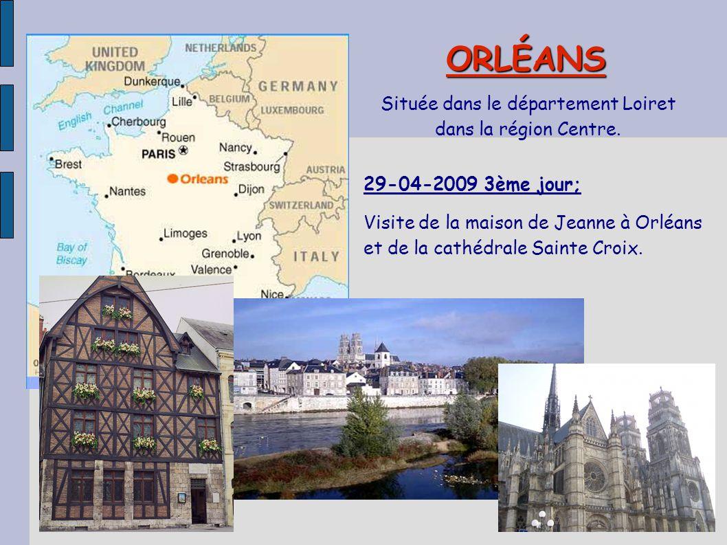 Située dans le département Loiret dans la région Centre.