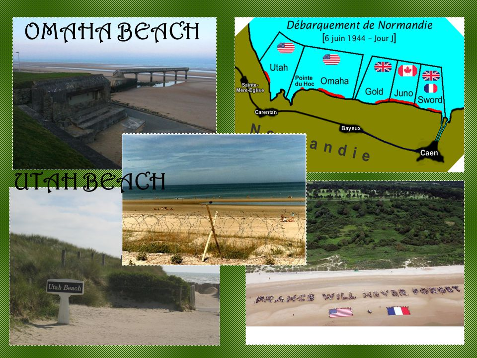 OMAHA BEACH UTAH BEACH