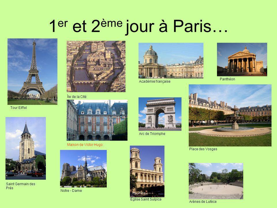 1er et 2ème jour à Paris… Panthéon Académie française Île de la Cité