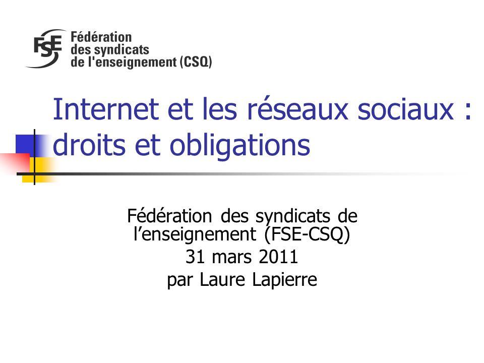 Internet et les réseaux sociaux : droits et obligations