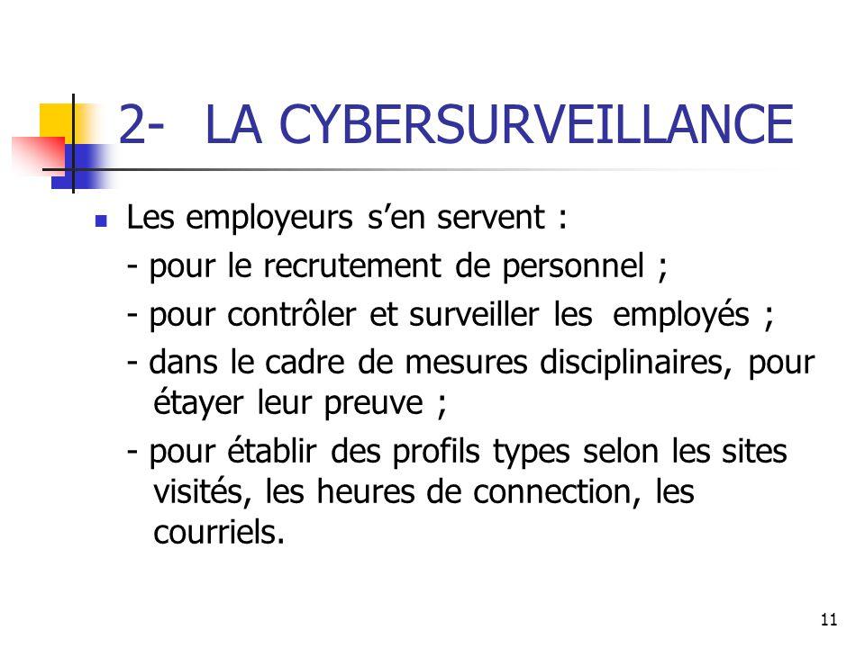 2- LA CYBERSURVEILLANCE