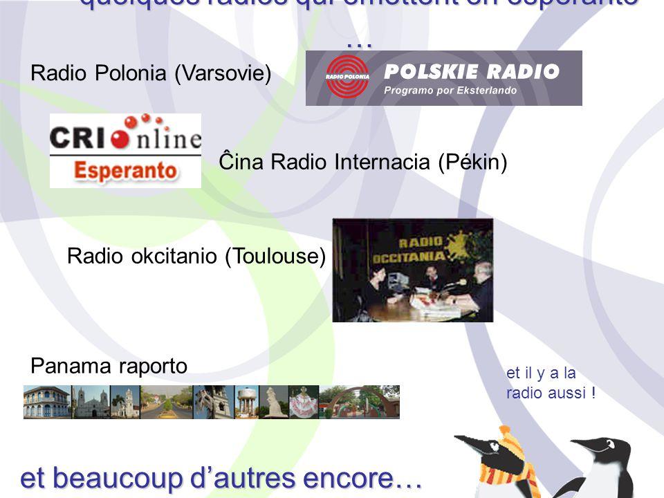 quelques radios qui émettent en espéranto …