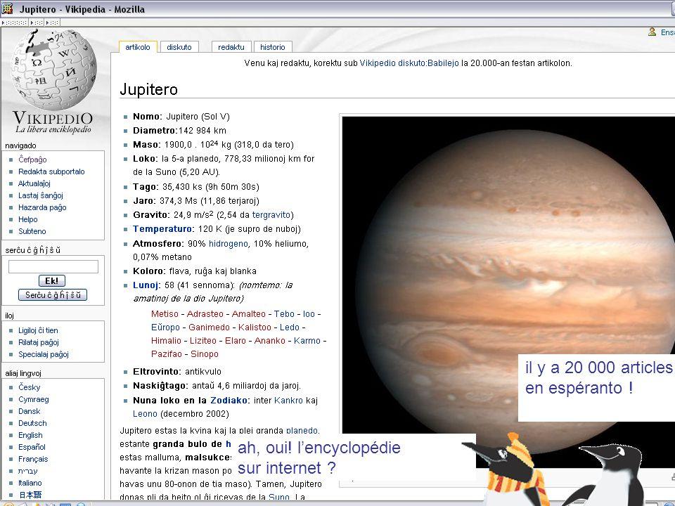 il y a 20 000 articles en espéranto !