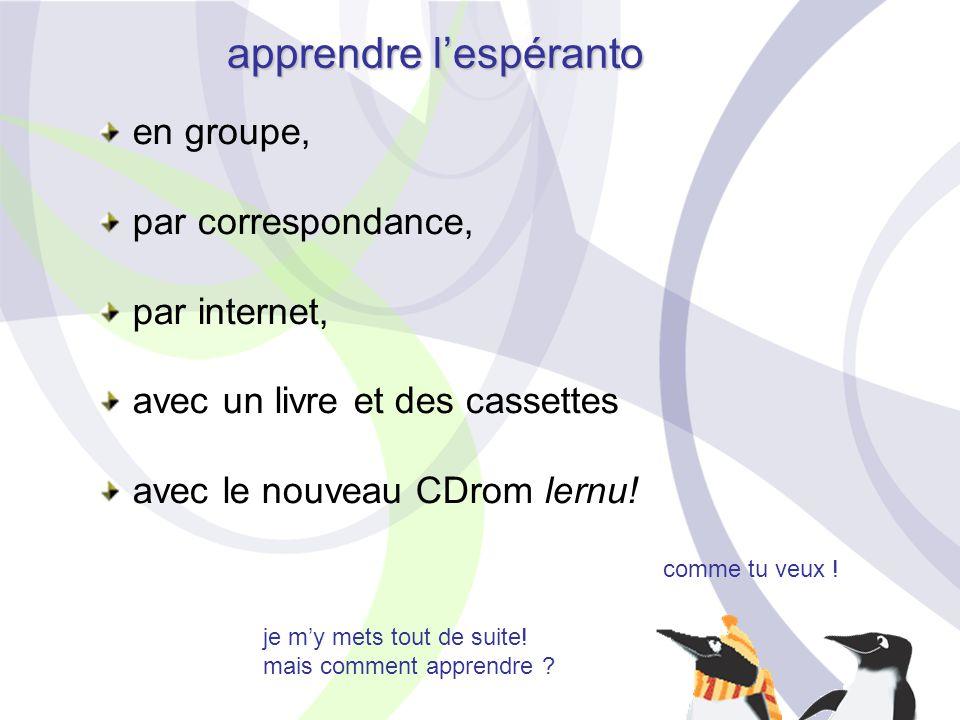 apprendre l'espéranto