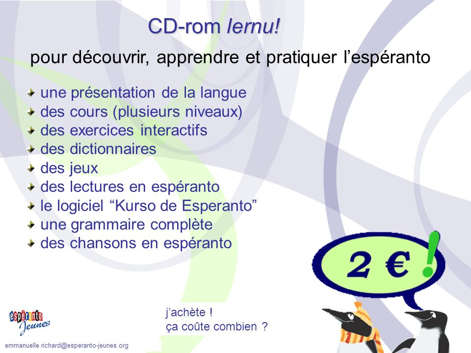 CD-rom lernu! pour découvrir, apprendre et pratiquer l'espéranto