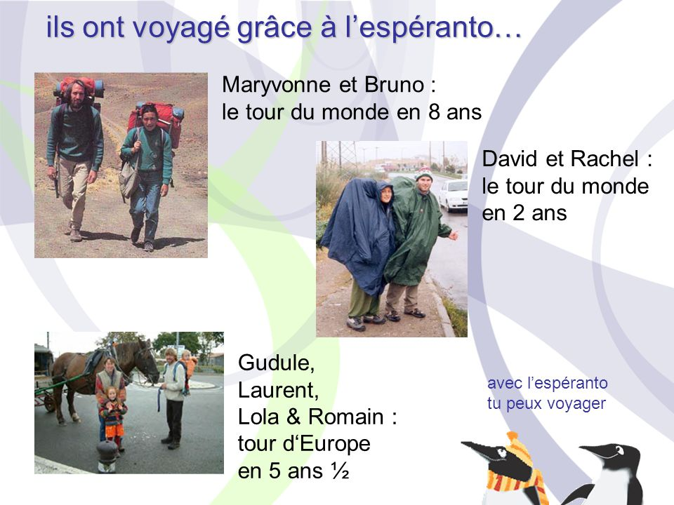 ils ont voyagé grâce à l'espéranto…