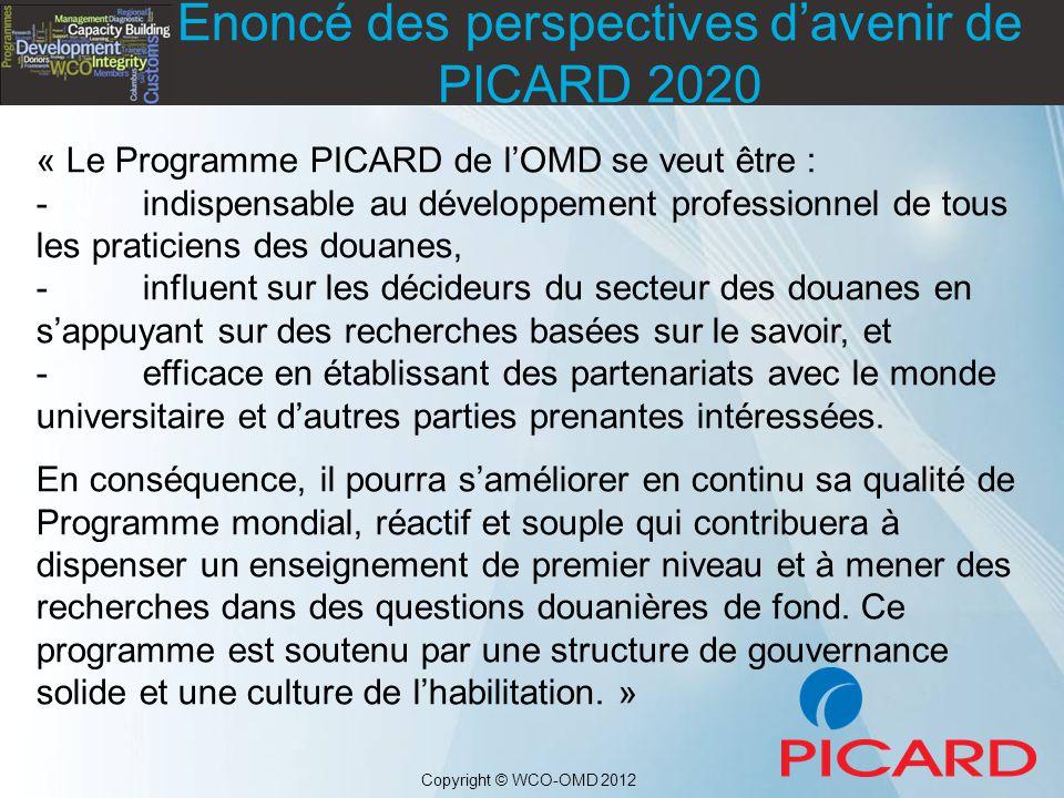Enoncé des perspectives d'avenir de PICARD 2020