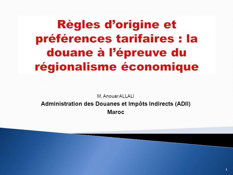 Administration des Douanes et Impôts Indirects (ADII)