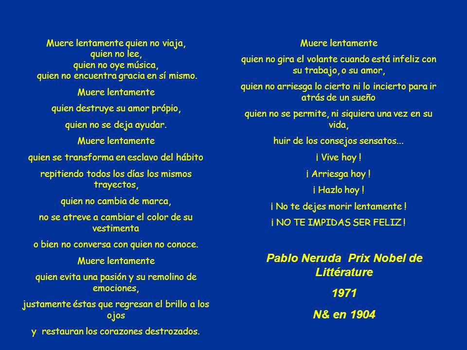 Pablo Neruda Prix Nobel de Littérature