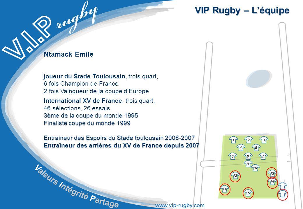 VIP Rugby – L'équipe Ntamack Emile