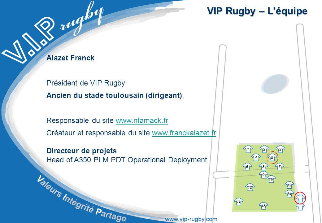 VIP Rugby – L'équipe Alazet Franck Président de VIP Rugby