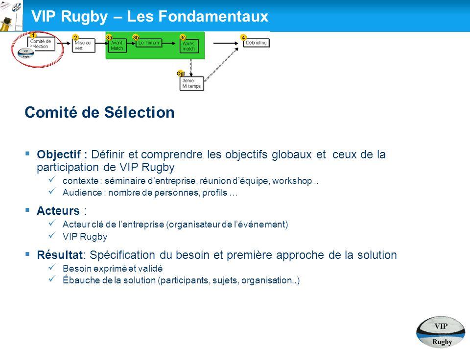 VIP Rugby – Les Fondamentaux