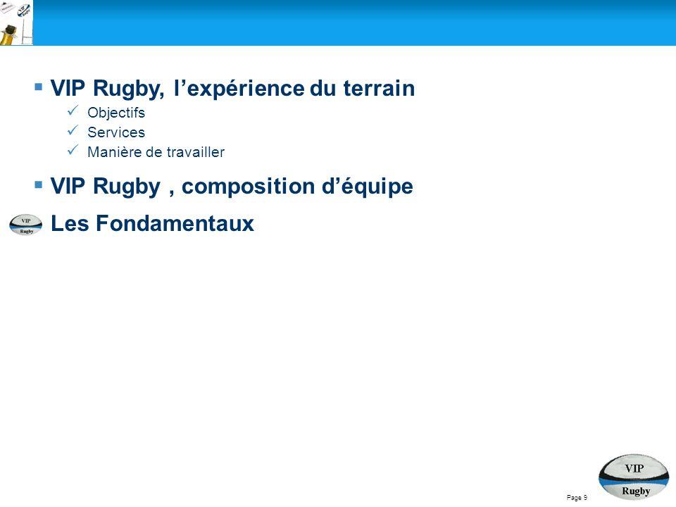 VIP Rugby, l'expérience du terrain
