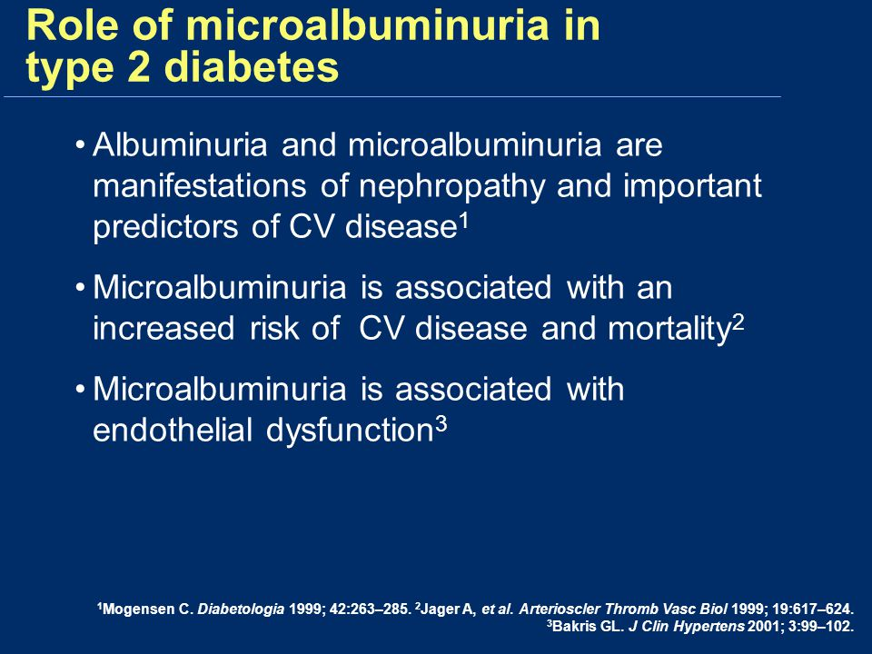 Role of microalbuminuria in type 2 diabetes