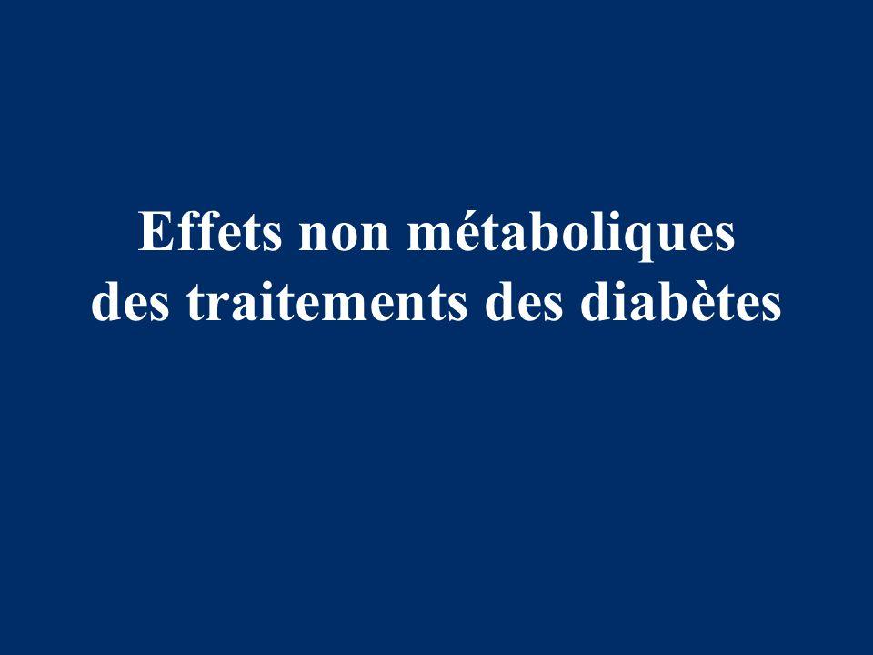 Effets non métaboliques des traitements des diabètes