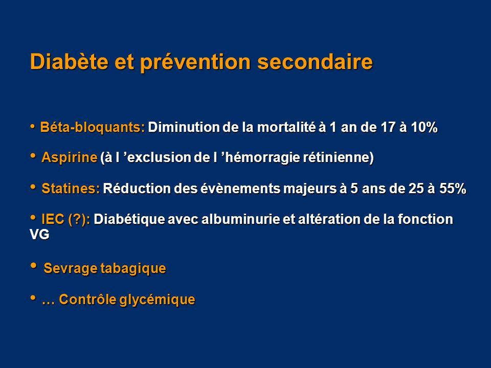 Diabète et prévention secondaire