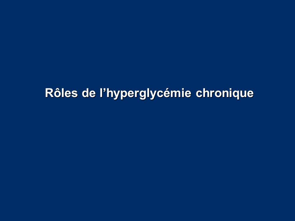 Rôles de l'hyperglycémie chronique
