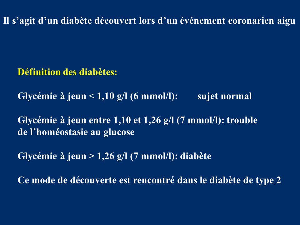 Il s'agit d'un diabète découvert lors d'un événement coronarien aigu