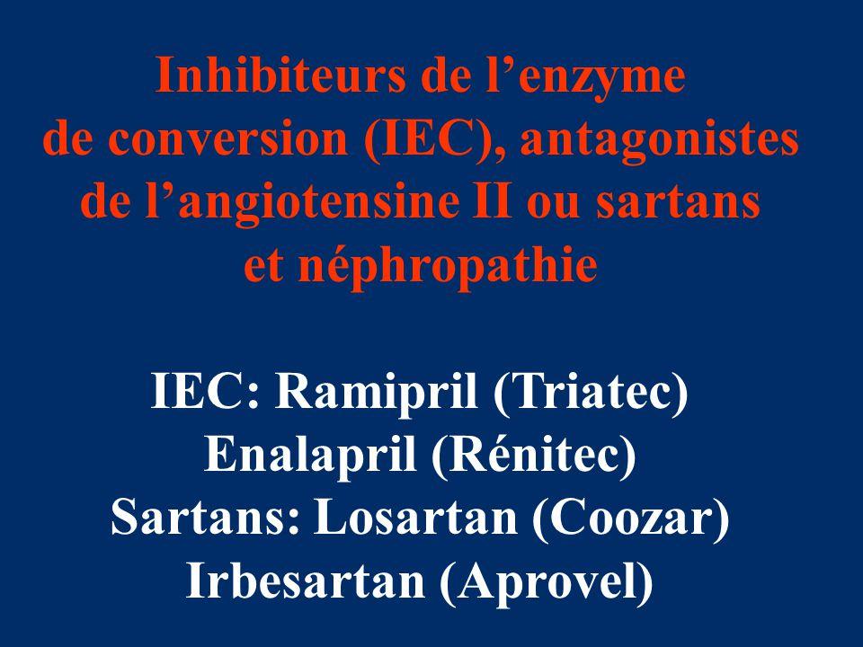 Inhibiteurs de l'enzyme de conversion (IEC), antagonistes