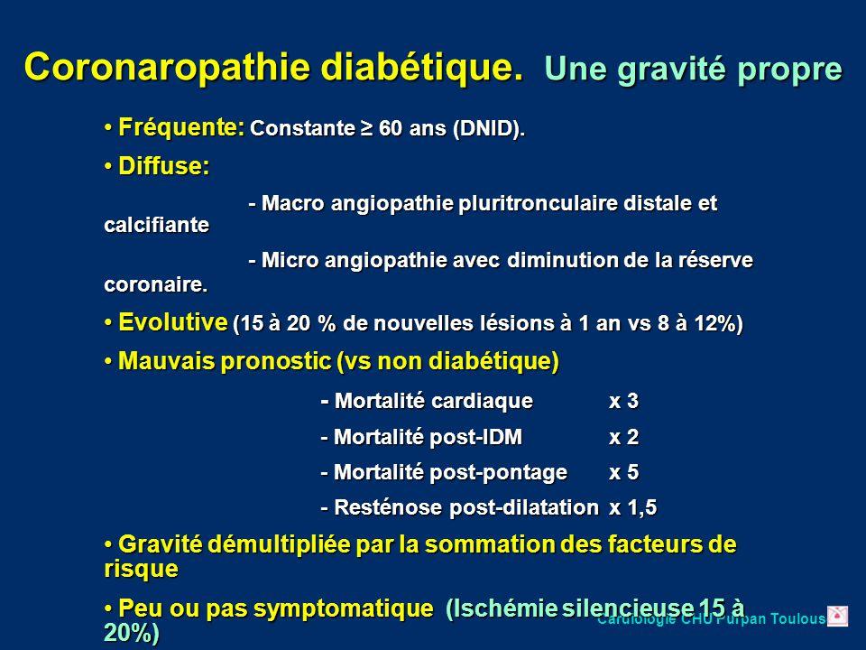 Coronaropathie diabétique. Une gravité propre