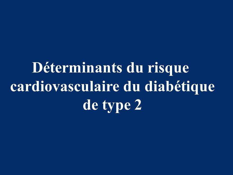 Déterminants du risque cardiovasculaire du diabétique