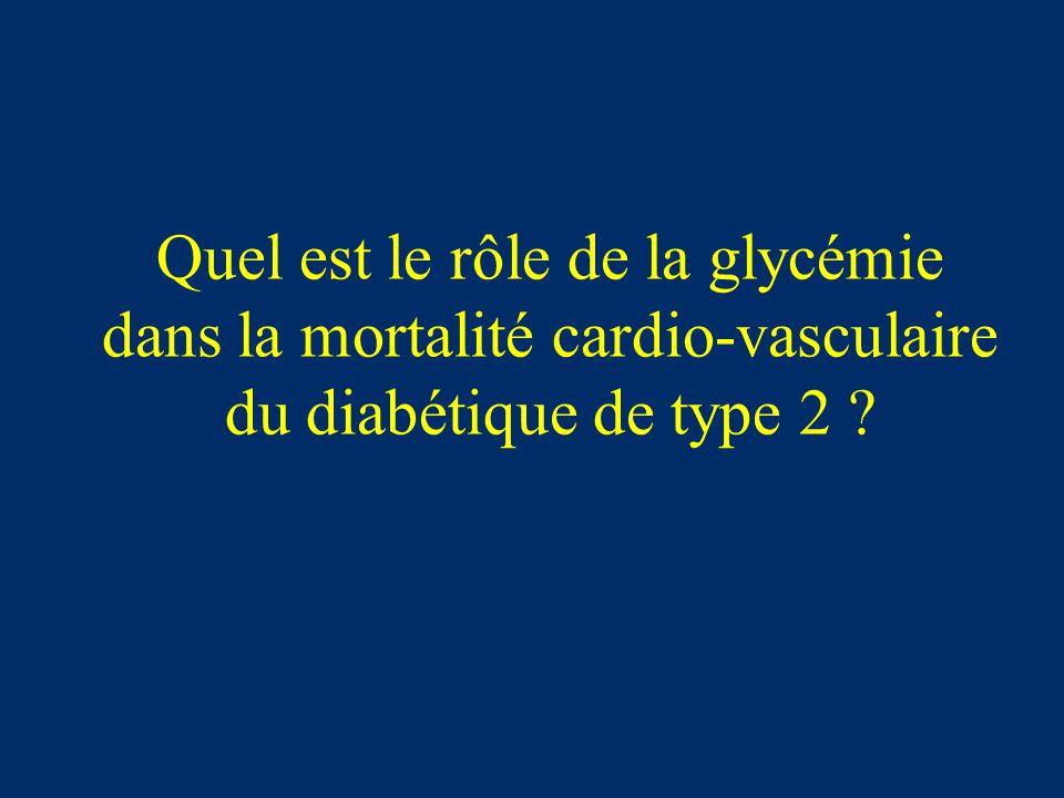 Quel est le rôle de la glycémie dans la mortalité cardio-vasculaire du diabétique de type 2