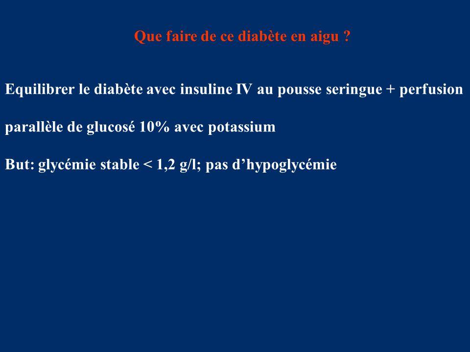 Que faire de ce diabète en aigu