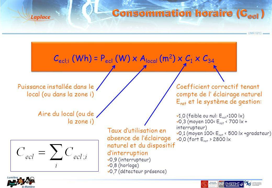 Consommation horaire (Cecl )