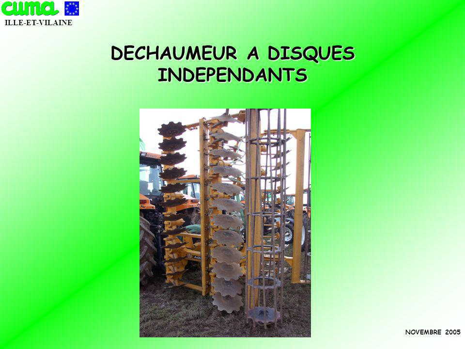 DECHAUMEUR A DISQUES INDEPENDANTS