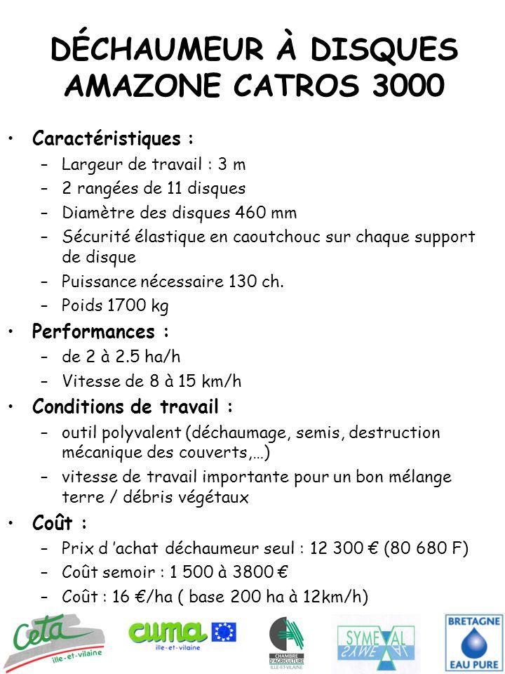 DÉCHAUMEUR À DISQUES AMAZONE CATROS 3000