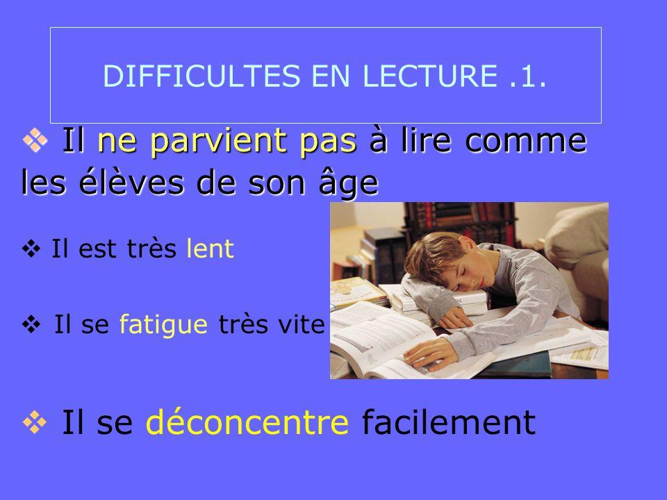 DIFFICULTES EN LECTURE .1.