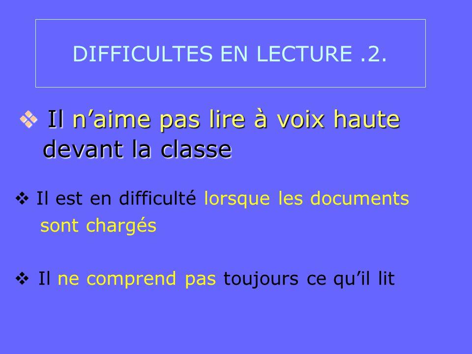 DIFFICULTES EN LECTURE .2.