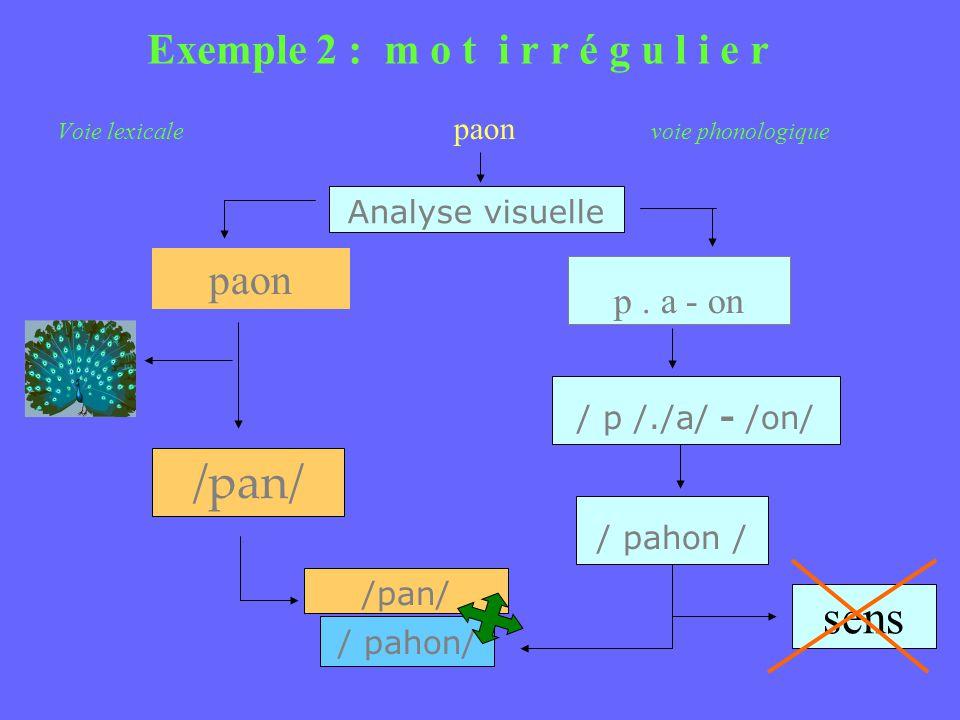 Exemple 2 : m o t i r r é g u l i e r