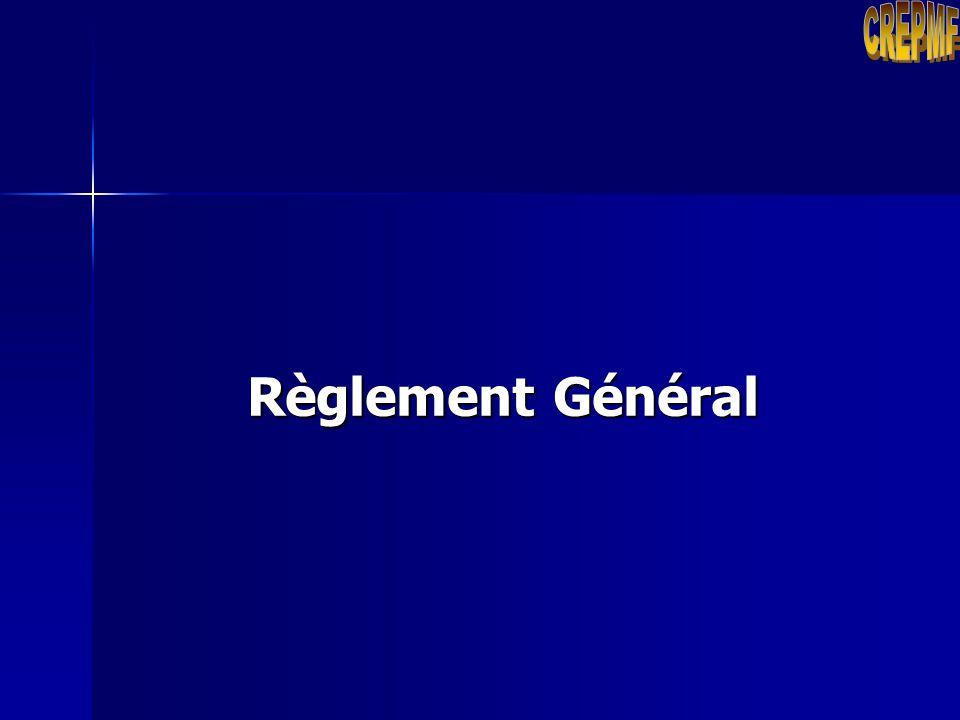 CREPMF Règlement Général