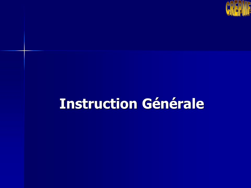 CREPMF Instruction Générale