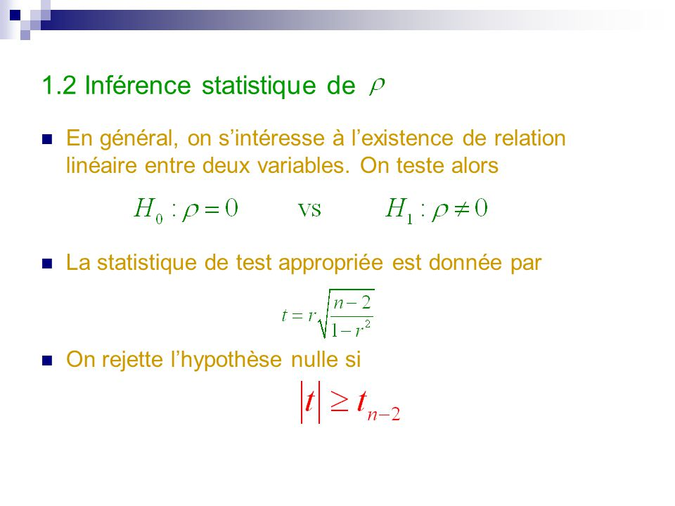 1.2 Inférence statistique de