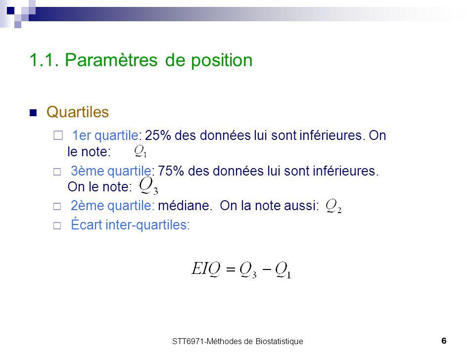 1.1. Paramètres de position