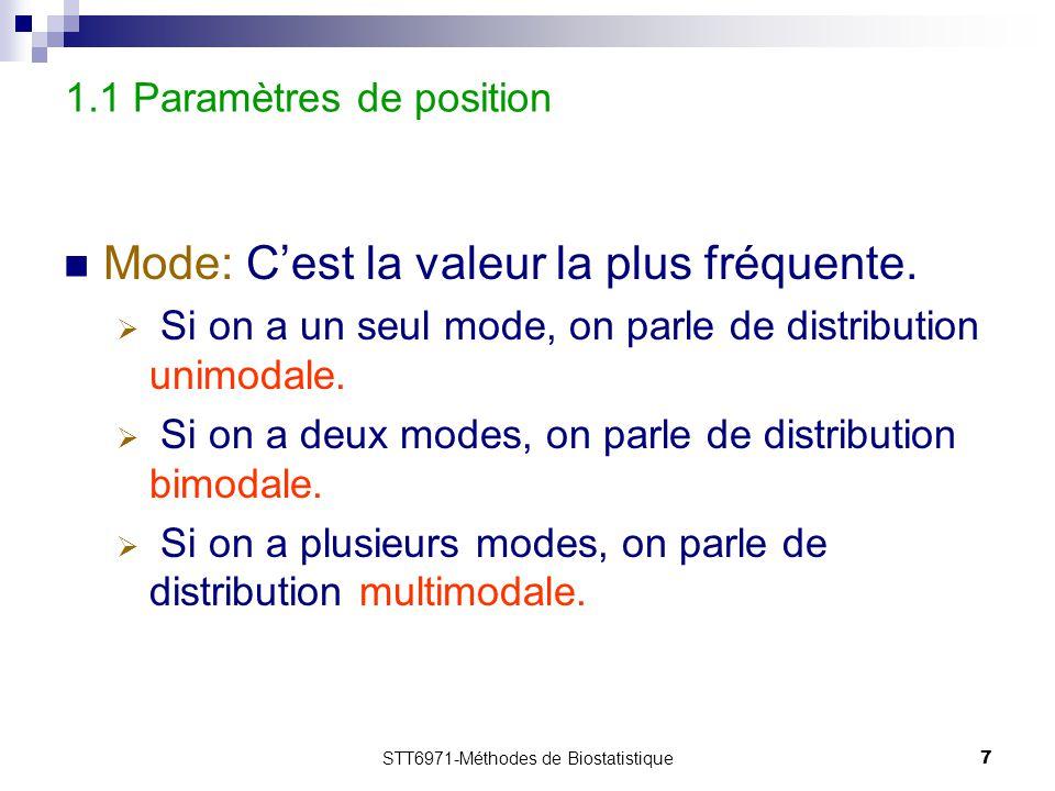 1.1 Paramètres de position