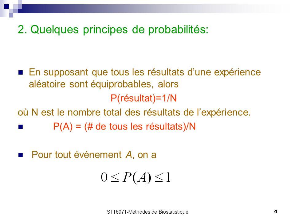 2. Quelques principes de probabilités: