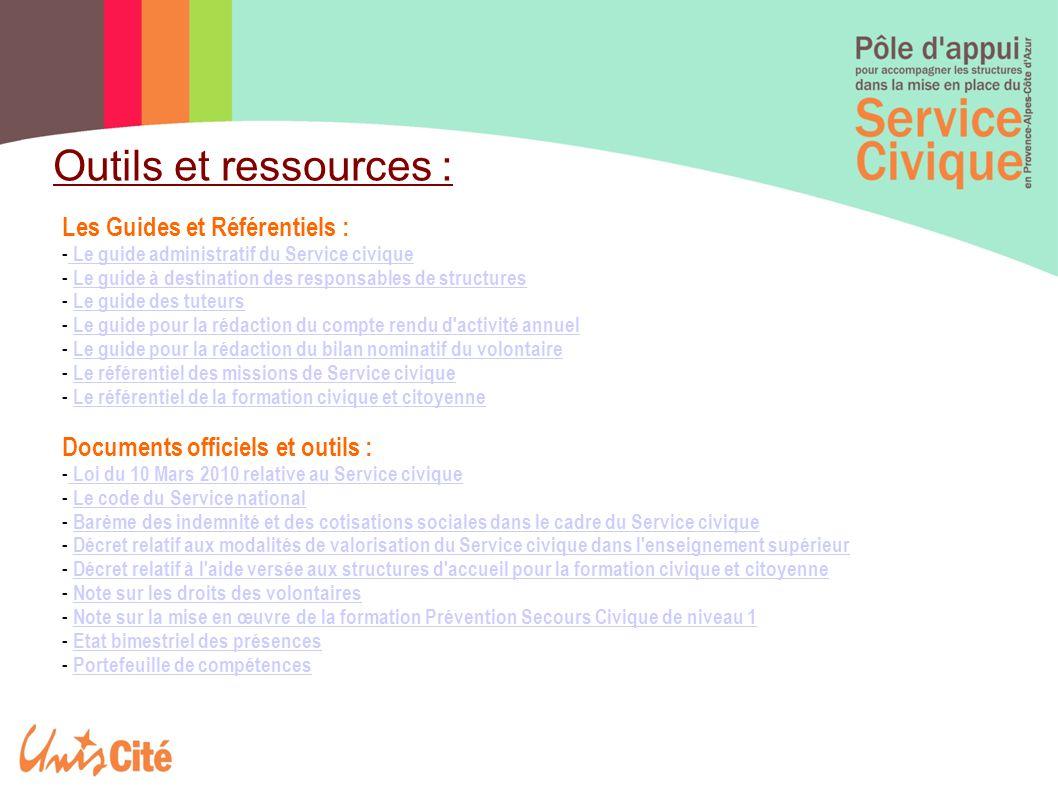 Outils et ressources : Les Guides et Référentiels :