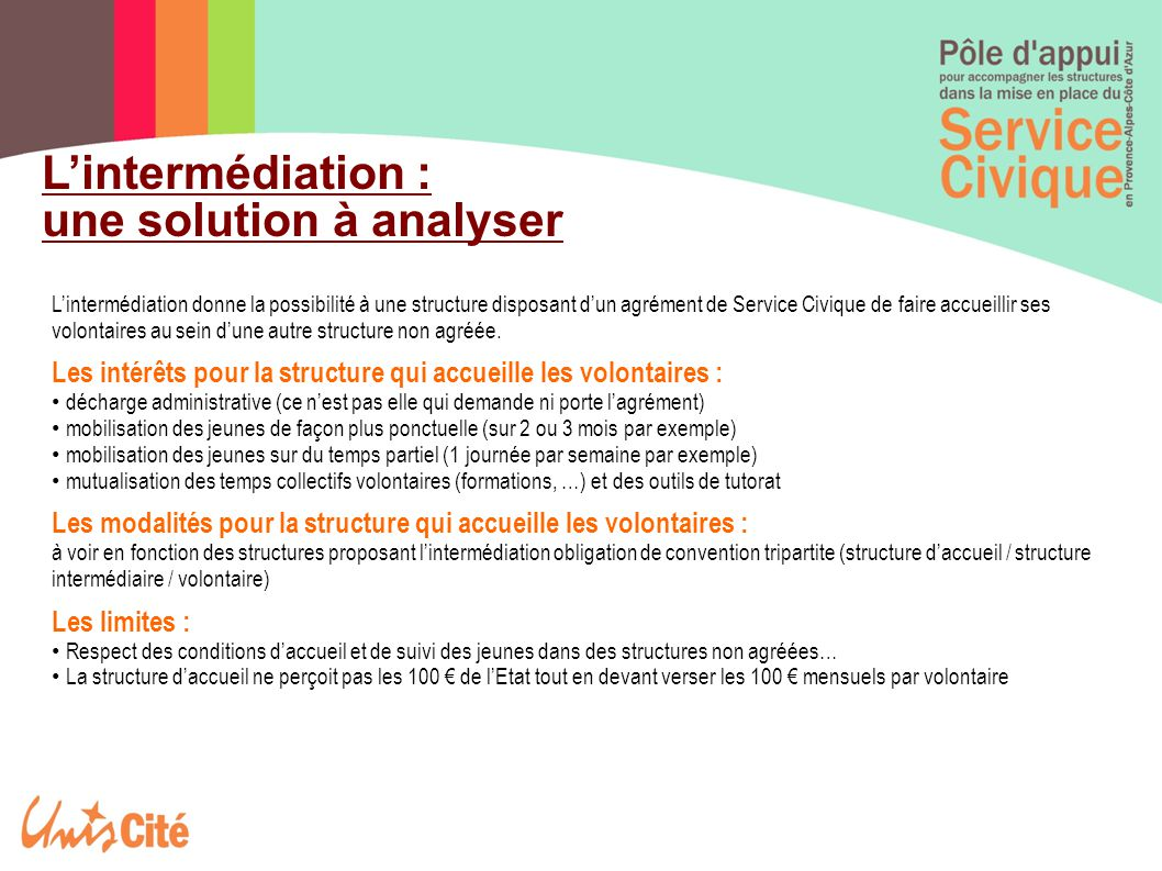 L'intermédiation : une solution à analyser