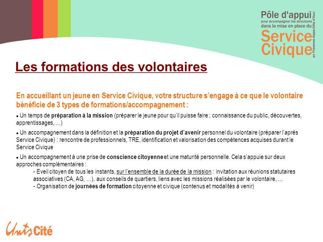 Les formations des volontaires