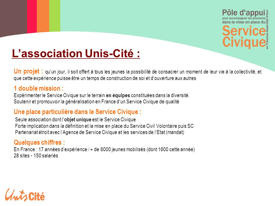 L'association Unis-Cité :