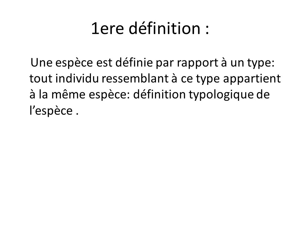 1ere définition :