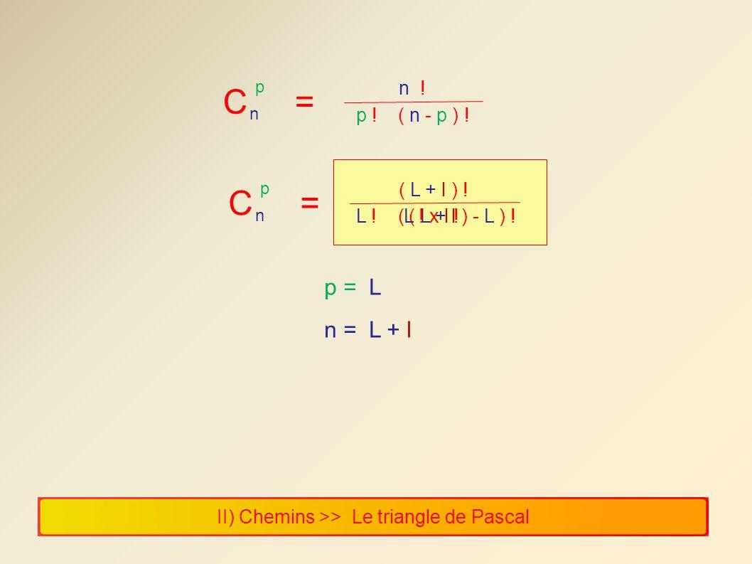 C = C = p = L n = L + l n ! p ! ( n - p ) ! ( L + l ) !