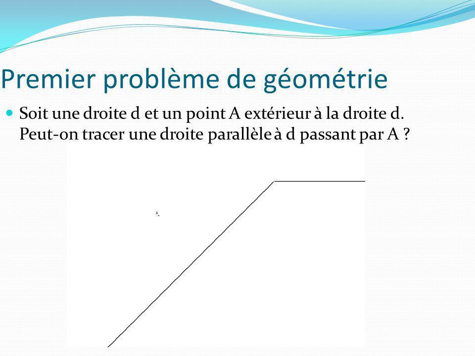 Premier problème de géométrie