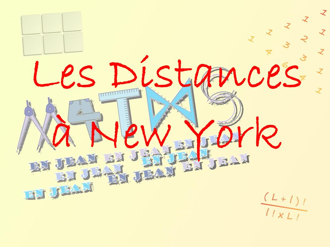 Les Distances à New York