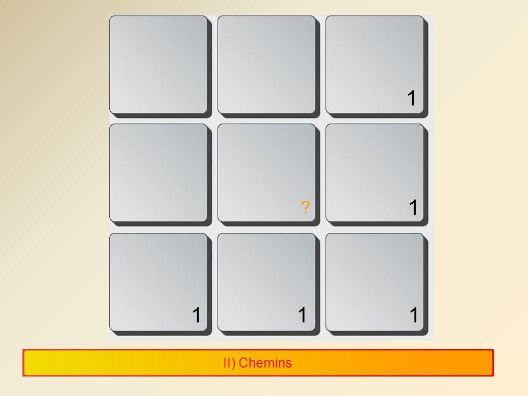 1 1 1 1 1 II) Chemins 11 11